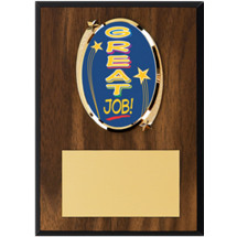 "Great Job Plaque - 5 x 7"" Oval Emblem Plaque"
