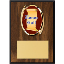 "Honor Roll Plaque - 5 x 7"" Oval Emblem Plaque"