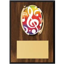 """Music Plaque - 5 x 7"""" Oval Emblem Plaque"""