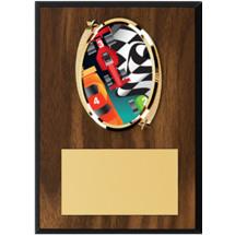 """Pinewood Derby Plaque - 5 x 7"""" Oval Emblem Plaque"""