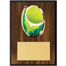 "Tennis Plaque - 5 x 7"" Oval Emblem Plaque"