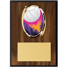 "Volleyball Plaque - 5 x 7"" Oval Emblem Plaque"
