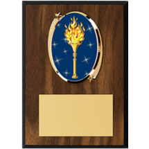 "Victory Plaque - 5 x 7"" Oval Emblem Plaque"