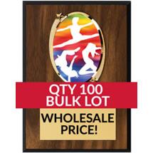 Buy in Bulk Dance Plaque - Oval Emblem Plaque - Qty of 100