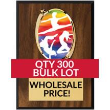 Buy in Bulk Dance Plaque - Oval Emblem Plaque - Qty of 300