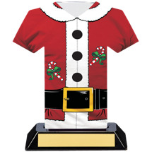 Santa Suit Christmas Trophy - 7 inches