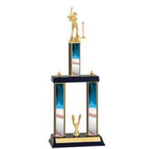 Girls T-Ball Trophy - Three Column T-Ball Trophy