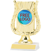 "6 1/2"" Holographic Frame Trophy with Free Custom Logo Emblem"