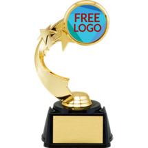 """7"""" Free Custom Logo Star Riser Trophy"""