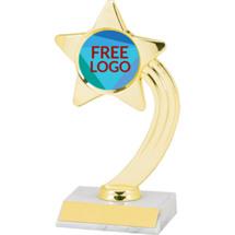 "8"" Free Custom Logo Shooting Star Trophy"