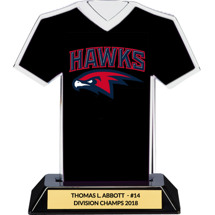 Black Custom Logo Jersey Trophy
