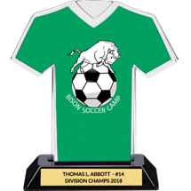 Green Custom Logo Jersey Trophy