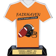 Orange Custom Logo Jersey Trophy