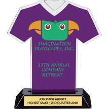 Purple Custom Logo Jersey Trophy