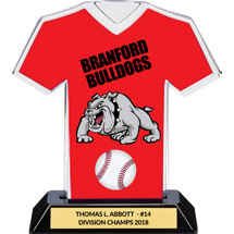 Red Custom Logo Jersey Trophy