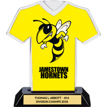 Yellow Custom Logo Jersey Trophy