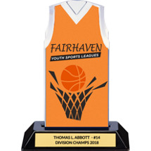 Orange Custom Logo Sleeveless Jersey Trophy