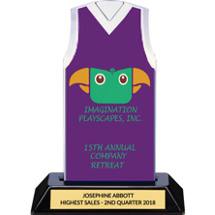 Purple Custom Logo Sleeveless Jersey Trophy