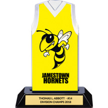 Yellow Custom Logo Sleeveless Jersey Trophy