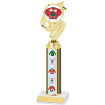 Christmas Sweater Trophy with Sweater Column - 11 1/2 inches