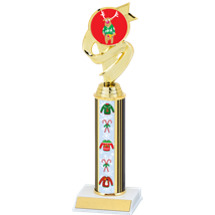 Reindeer Sweater Trophy with Sweater Column - 11 1/2 inches