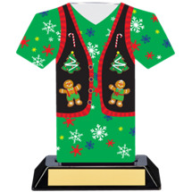 Christmas Sweater Trophy - 7 inches